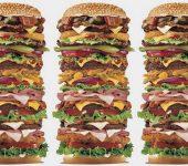 tall hamburger